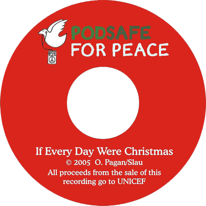 Podsafe for Peace CD label 150dpi